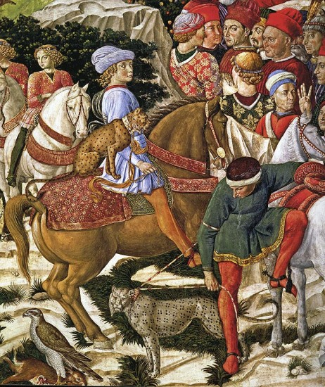 Benozzo Gozzoli, Procession des Mages (détail), 1459, Florence, Palazzo Medici-Riccardi, Cappela Medici