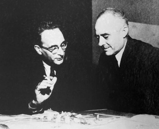Henri Seyrig en compagnie de Claude Levi Strauss, vers 1945