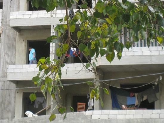 Chantier à Beyrouth (photo J. Baldi)