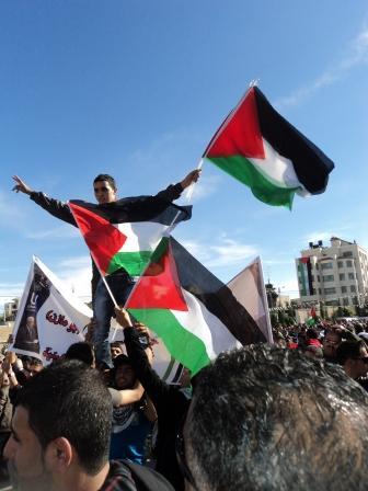 Ramallah, rassemblement populaire, 2 décembre 2012, source V. G.