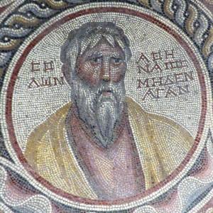 Solon, détail de la mosaïque des Sages