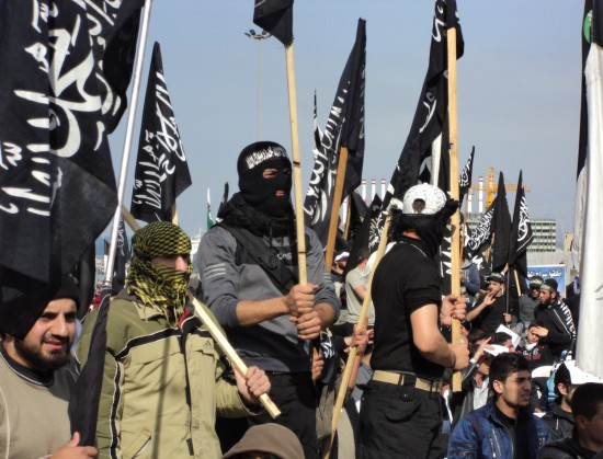 Manifestations salafistes de soutien à la rébellion syrienne, Beyrouth © Vincent Geisser, 2012