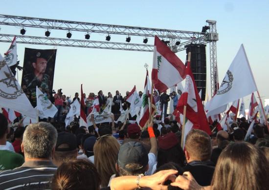 Manifestation de soutien à l'armée libanaise, Beyrouth © Vincent Geisser, 2013