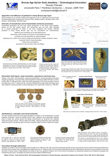 Bronze Age Syrian Gold Jewellery - Technological Innovation