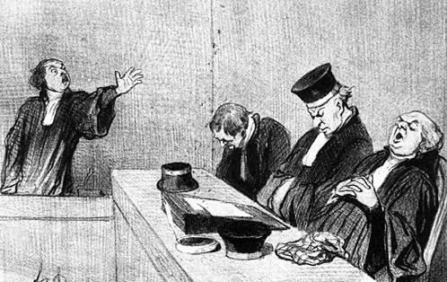 © Album des Les Gens de Justice, 1845-1846. Lithographie, 257 x 184 mm Delteil 1347, Publié dans Le Charivari, le 15 août 1845. BnF, Estampes et Photographie, Rés. Dc-180j (tome XI)