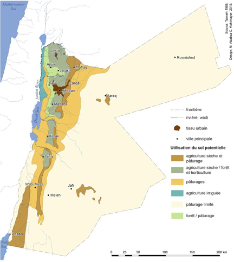 Utilisation du sol et extension urbaine de la Jordanie