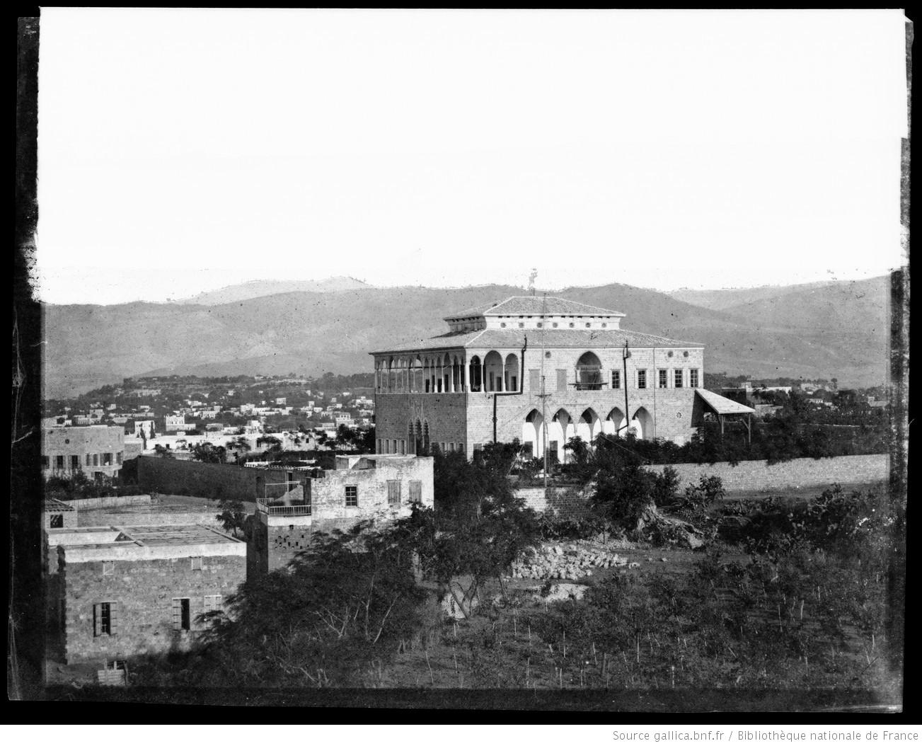 Consulat de France à Beyrouth : [photographie négative] / [Louis Vignes] Vignes, Louis (1831-1896). Photographe