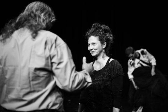 Amer Khalil et Lydia Ziemke, répétitions d'About François, décembre 2018, crédits Jakob Kurkosek