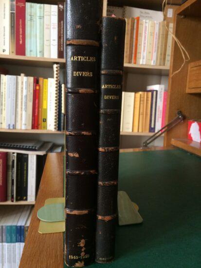 Les deux volumes de tirés-à-part