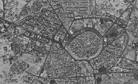 Aerial view of the citadel of Erbil
