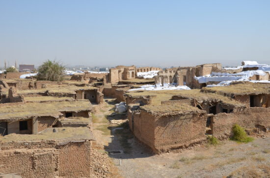 Old houses on the top of the citadel of Erbil